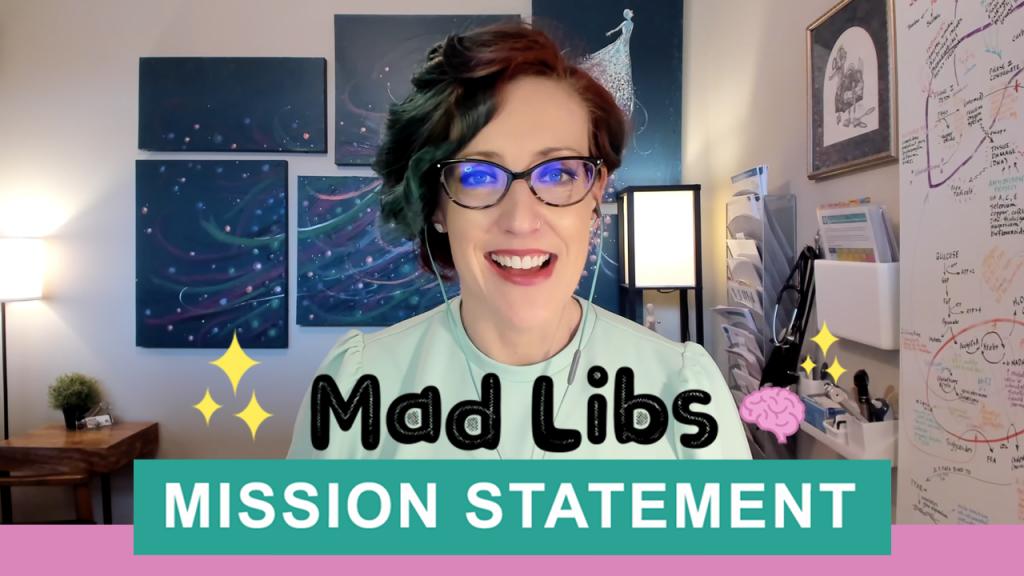 Dr Lara Salyer Right Brain Recess Mission Statement Mad Libs