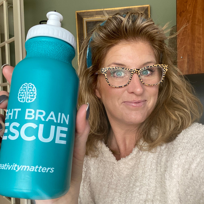 Right Brain Rescue Water Bottle Customer